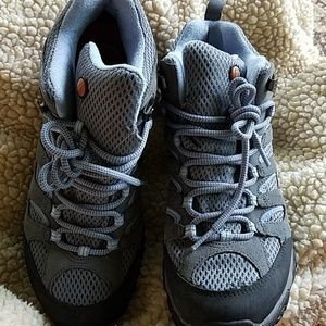 Merrell Shoes - Merrell Moab Mid Waterproof Grey/periwinkle